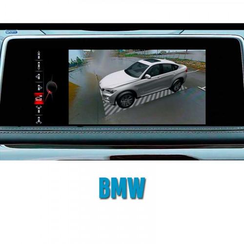 Штатная система кругового обзора автомобиля сПАРК-BDV-360-R для BMW со встроенным видеоинтерфейсом, с функцией видеорегистратора