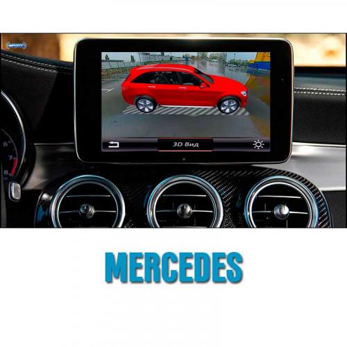 Cистема кругового обзора автомобиля сПАРК-BDV-360-R для Mercedes со встроенным видеоинтерфейсом, с функцией видеорегистратора