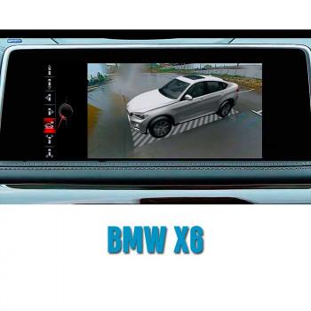 Штатная интеллектуальная 3D система кругового обзора автомобиля сПАРК-BDV-360-R для BMW X6, с функцией видеорегистратора