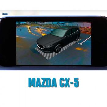 Штатная интеллектуальная 3D система кругового обзора автомобиля сПАРК-BDV-360-R для Mazda CX-5, с функцией видеорегистратора