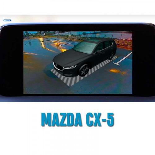 Система кругового обзора автомобиля сПАРК-BDV-360-R для Mazda CX-5, CX-9, 3, 6 с функцией видеорегистратора