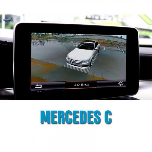 Система кругового обзора автомобиля сПАРК-BDV-360-R для Mercedes-Benz C class, с функцией видеорегистратора