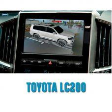 Штатная интеллектуальная 3D система кругового обзора автомобиля сПАРК-BDV-360-R для Toyota LC 200, с функцией видеорегистратора