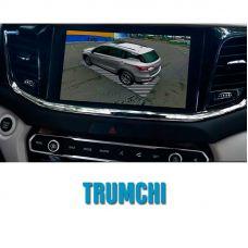 Штатная интеллектуальная 3D система кругового обзора автомобиля сПАРК-BDV-360-R для Trumchi с функцией видеорегистратора