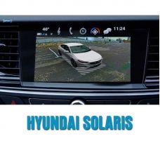 Штатная интеллектуальная 3D система кругового обзора автомобиля сПАРК-BDV-360-R для Hyundai Solaris, с функцией видеорегистратора