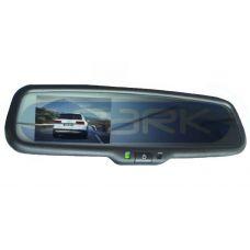 Монитор в зеркале заднего вида под штатную установку сПАРК-436-12 для Peugeot: 307, 207, 407