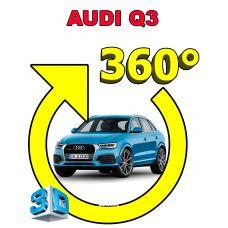 Штатная 3D система кругового обзора автомобиля сПАРК-BDV-360-R для Audi Q3, с функцией видеорегистратора