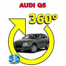 Штатная 3D система кругового обзора автомобиля сПАРК-BDV-360-R для Audi Q5, с функцией видеорегистратора