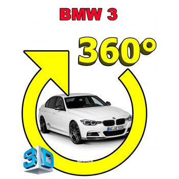 Штатная интеллектуальная 3D система кругового обзора автомобиля сПАРК-BDV-360-R для BMW 3 Series, с функцией видеорегистратора