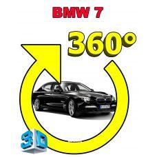 Штатная интеллектуальная 3D система кругового обзора автомобиля сПАРК-BDV-360-R для BMW 7 Series V (F01/F02/F04), с функцией видеорегистратора