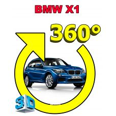 Штатная интеллектуальная 3D система кругового обзора автомобиля сПАРК-BDV-360-R для BMW X1, с функцией видеорегистратора
