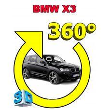 Штатная интеллектуальная 3D система кругового обзора автомобиля сПАРК-BDV-360-R для BMW X3, с функцией видеорегистратора