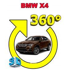 Штатная интеллектуальная 3D система кругового обзора автомобиля сПАРК-BDV-360-R для BMW X4 , с функцией видеорегистратора