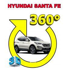 Штатная интеллектуальная 3D система кругового обзора автомобиля сПАРК-BDV-360-R для Hyundai SantaFe III (IX45), с функцией видеорегистратора