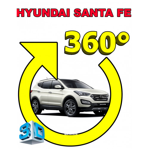 Система кругового обзора автомобиля сПАРК-BDV-360-R для Hyundai Santa Fe III (IX45), с функцией видеорегистратора