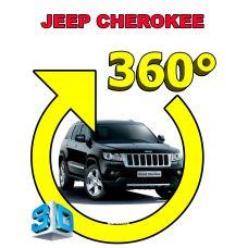 Штатная интеллектуальная 3D система кругового обзора автомобиля сПАРК-BDV-360-R для Jeep Cherokee, с функцией видеорегистратора