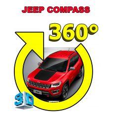 Штатная интеллектуальная 3D система кругового обзора автомобиля сПАРК-BDV-360-R для Jeep Compass, с функцией видеорегистратора