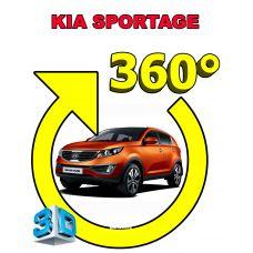 Штатная интеллектуальная 3D система кругового обзора автомобиля сПАРК-BDV-360-R для Kia Sportage, с функцией видеорегистратора