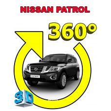 Штатная интеллектуальная 3D система кругового обзора автомобиля сПАРК-BDV-360-R для Nissan Patrol, с функцией видеорегистратора