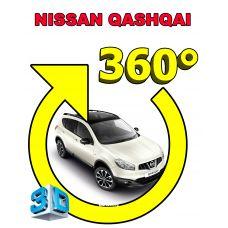 Штатная интеллектуальная 3D система кругового обзора автомобиля сПАРК-BDV-360-R для Nissan Qashqai , с функцией видеорегистратора