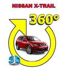 Штатная интеллектуальная 3D система кругового обзора автомобиля сПАРК-BDV-360-R для Nissan X-Trail II , с функцией видеорегистратора