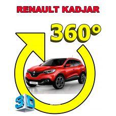 Штатная интеллектуальная 3D система кругового обзора автомобиля сПАРК-BDV-360-R для Renault Kadjar, с функцией видеорегистратора