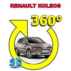 Штатная интеллектуальная 3D система кругового обзора автомобиля сПАРК-BDV-360-R для Renault Koleos II, с функцией видеорегистратора