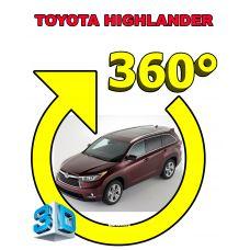 Штатная интеллектуальная 3D система кругового обзора автомобиля сПАРК-BDV-360-R для Toyota Highlander , с функцией видеорегистратора