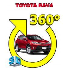 Штатная интеллектуальная 3D система кругового обзора автомобиля сПАРК-BDV-360-R для Toyota RAV4, с функцией видеорегистратора