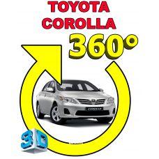 Штатная интеллектуальная 3D система кругового обзора автомобиля сПАРК-BDV-360-R для Toyota Corolla , с функцией видеорегистратора