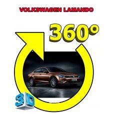 Штатная интеллектуальная 3D система кругового обзора автомобиля сПАРК-BDV-360-R для Volkswagen Lamando, с функцией видеорегистратора