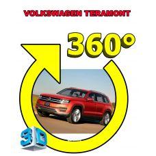 Штатная интеллектуальная 3D система кругового обзора автомобиля сПАРК-BDV-360-R для Volkswagen Teramont, с функцией видеорегистратора