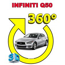 Штатная интеллектуальная 3D система кругового обзора автомобиля сПАРК-BDV-360-R для Infinity Q50, с функцией видеорегистратора