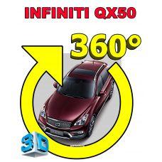 Штатная интеллектуальная 3D система кругового обзора автомобиля сПАРК-BDV-360-R для Infinity QX50, с функцией видеорегистратора