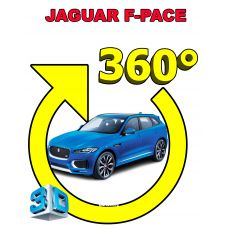 Штатная интеллектуальная 3D система кругового обзора автомобиля сПАРК-BDV-360-R для Jaguar F-Pace 16, с функцией видеорегистратора