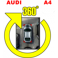 Штатная интеллектуальная система кругового обзора автомобиля сПАРК-BDV-360-R для Audi A4, с функцией видеорегистратора