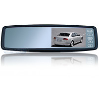 Монитор в зеркале заднего вида под штатную установку сПАРК-438 для Mercedes