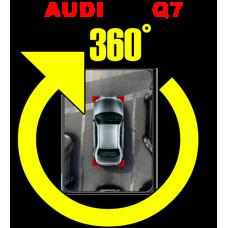 Штатная интеллектуальная система кругового обзора автомобиля сПАРК-BDV-360-R для Audi Q7, с функцией видеорегистратора