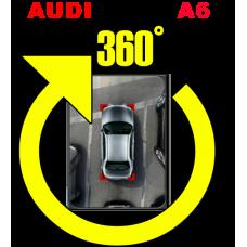 Штатная интеллектуальная система кругового обзора автомобиля сПАРК-BDV-360-R для Audi A6, с функцией видеорегистратора