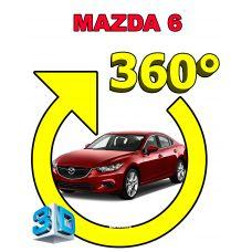Штатная интеллектуальная 3D система кругового обзора автомобиля сПАРК-BDV-360-R для Mazda 6, с функцией видеорегистратора
