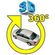 Универсальная 3D система кругового обзора автомобиля сПАРК-BDV-360-R, с функцией видеорегистратора