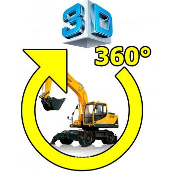Система кругового обзора сПАРК BDVR-360 для спец техники, Bird view с функцией записи