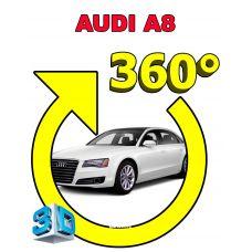 Штатная интеллектуальная 3D система кругового обзора автомобиля сПАРК-BDV-360-R для Audi A8, с функцией видеорегистратора