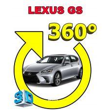 Штатная интеллектуальная 3D система кругового обзора автомобиля сПАРК-BDV-360-R для Lexus GS, с функцией видеорегистратора