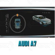 Штатная интеллектуальная 3D система кругового обзора автомобиля сПАРК-BDV-360-R для Audi A7, с функцией видеорегистратора
