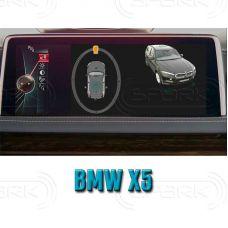 Штатная интеллектуальная 3D система кругового обзора автомобиля сПАРК-BDV-360-R для BMW X5 F15, с функцией видеорегистратора