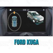 Штатная интеллектуальная 3D система кругового обзора автомобиля сПАРК-BDV-360-R для Ford Kuga, с функцией видеорегистратора