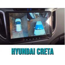 Штатная интеллектуальная 3D система кругового обзора автомобиля сПАРК-BDV-360-R для Hyundai Creta, с функцией видеорегистратора