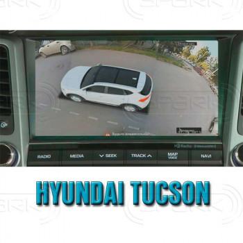 Штатная интеллектуальная 3D система кругового обзора автомобиля сПАРК-BDV-360-R для Hyundai Tucson IX35, с функцией видеорегистратора