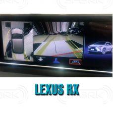 Штатная интеллектуальная 3D система кругового обзора автомобиля сПАРК-BDV-360-R для Lexus RX III, с функцией видеорегистратора
